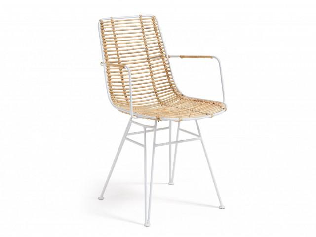 Кресло La Forma ASHANTI C824E05 Бежево-белый