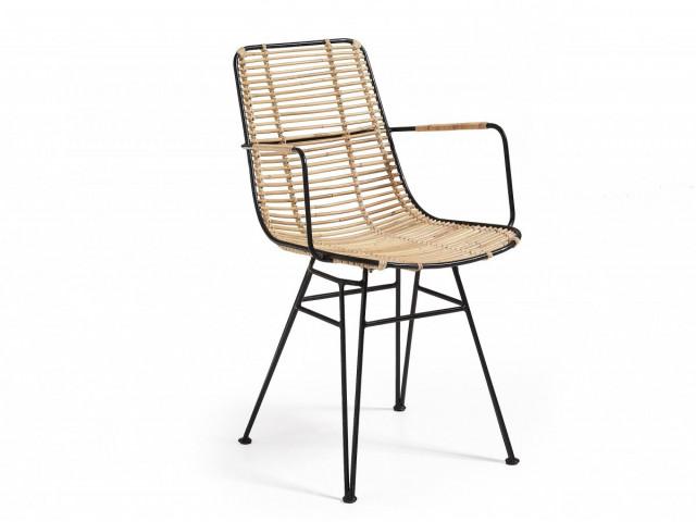 Кресло La Forma ASHANTI C824E01 Бежево-черный