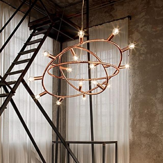 Лампа подвесная Ideal Lux Cosmo SP15 Rame 133058