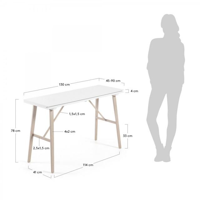 Стол-консоль раскладной La Forma ARYON C994M33 Белый