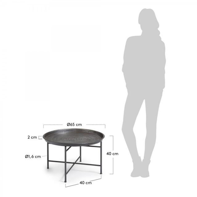 Кофейный стол La Forma ADALINE C875R82 Графитовый