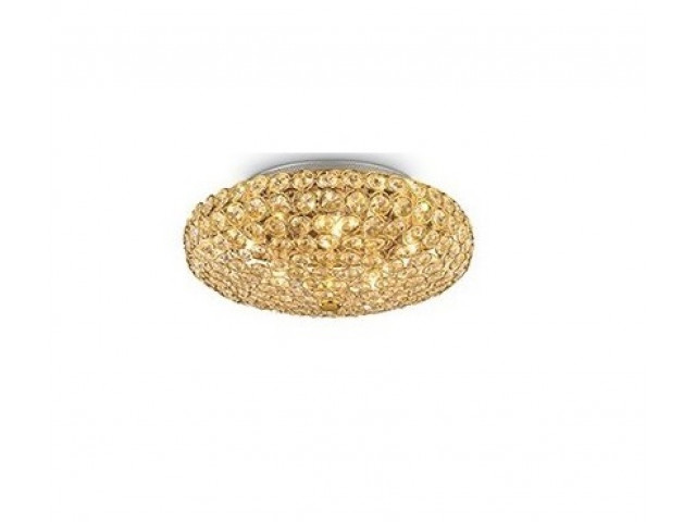 Лампа подвесная Ideal Lux King PL5 Oro 073187
