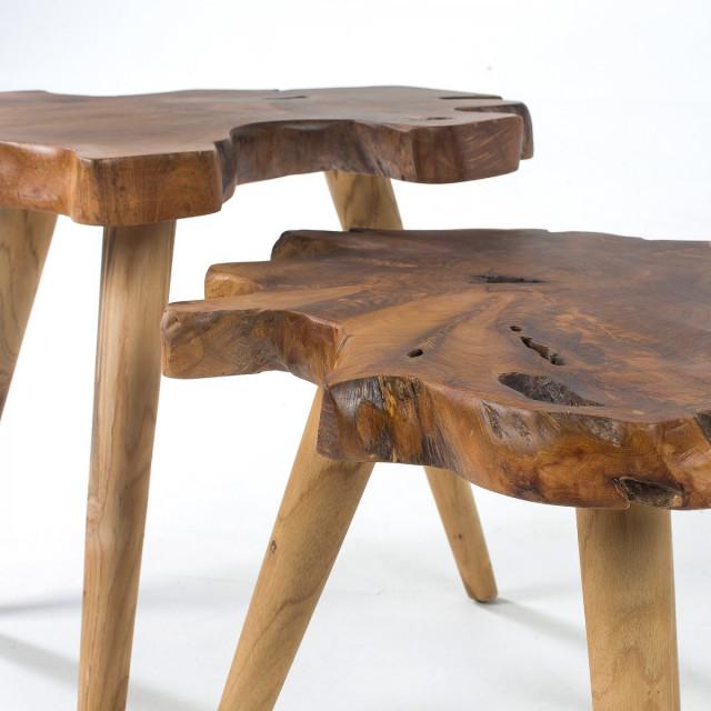 Набор из 2-х кофейных столов La Forma HARRIS CC0170M47 Бежевый