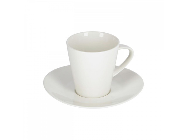 Большая фарфоровая кофейная чашка и блюдце  La Forma Pierina AA8431K05