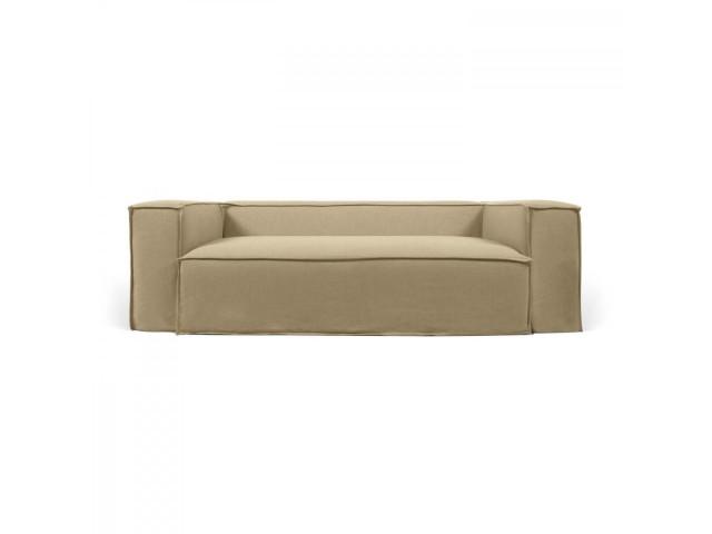 2-местный диван Blok со съемными чехлами из льна бежевого цвета La Forma S571SN12